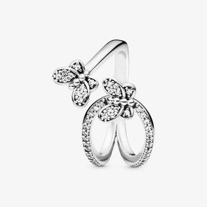 Pandora Sparkling Butterfly Open Ring
